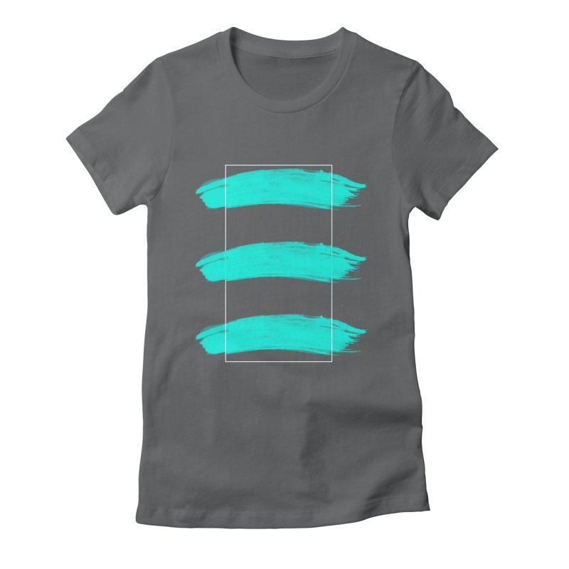 Painted Lines Women's Fitted T-Shirt by nvil's Artist Shop