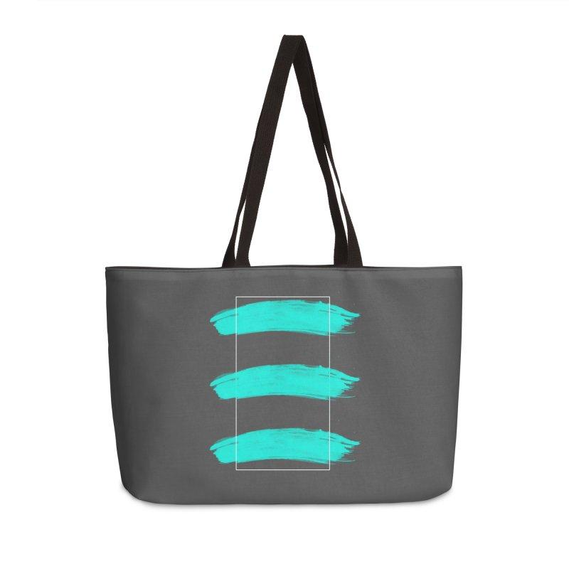 Painted Lines Accessories Weekender Bag Bag by nvil's Artist Shop