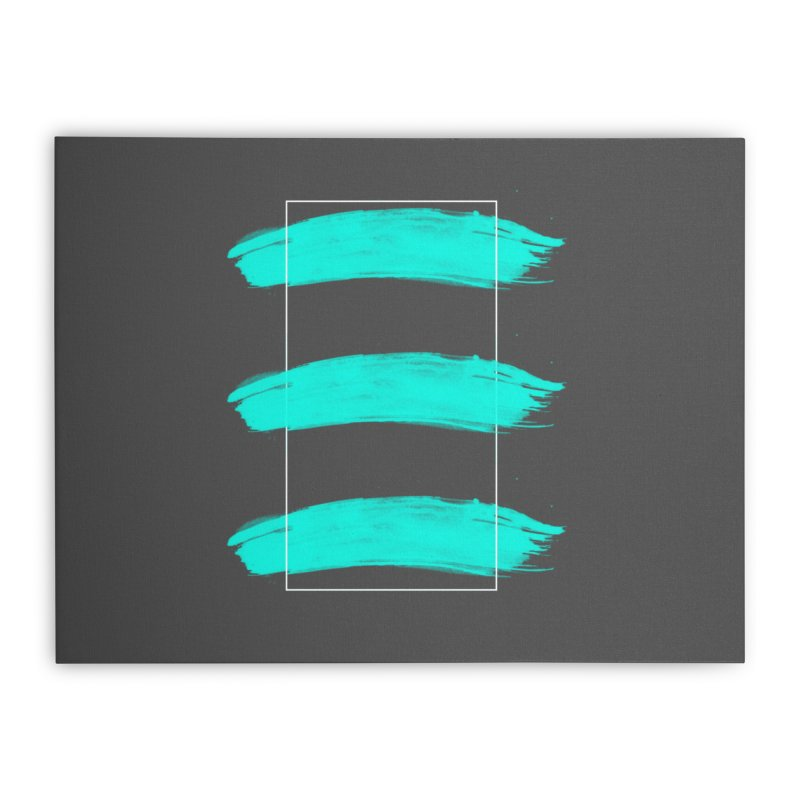 Painted Lines Home Stretched Canvas by nvil's Artist Shop