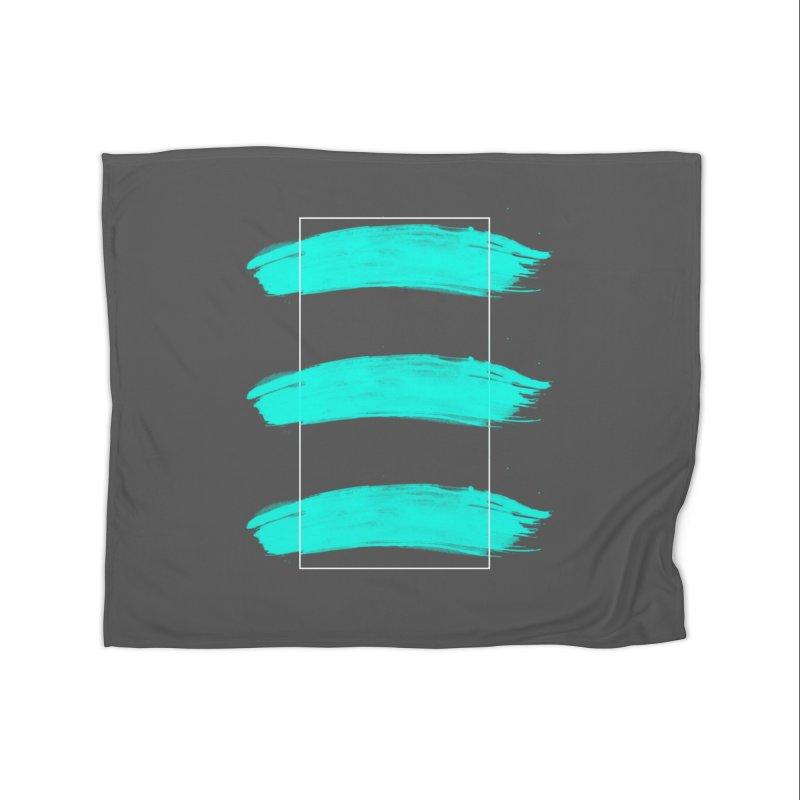 Painted Lines Home Fleece Blanket Blanket by nvil's Artist Shop