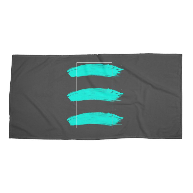 Painted Lines Accessories Beach Towel by nvil's Artist Shop