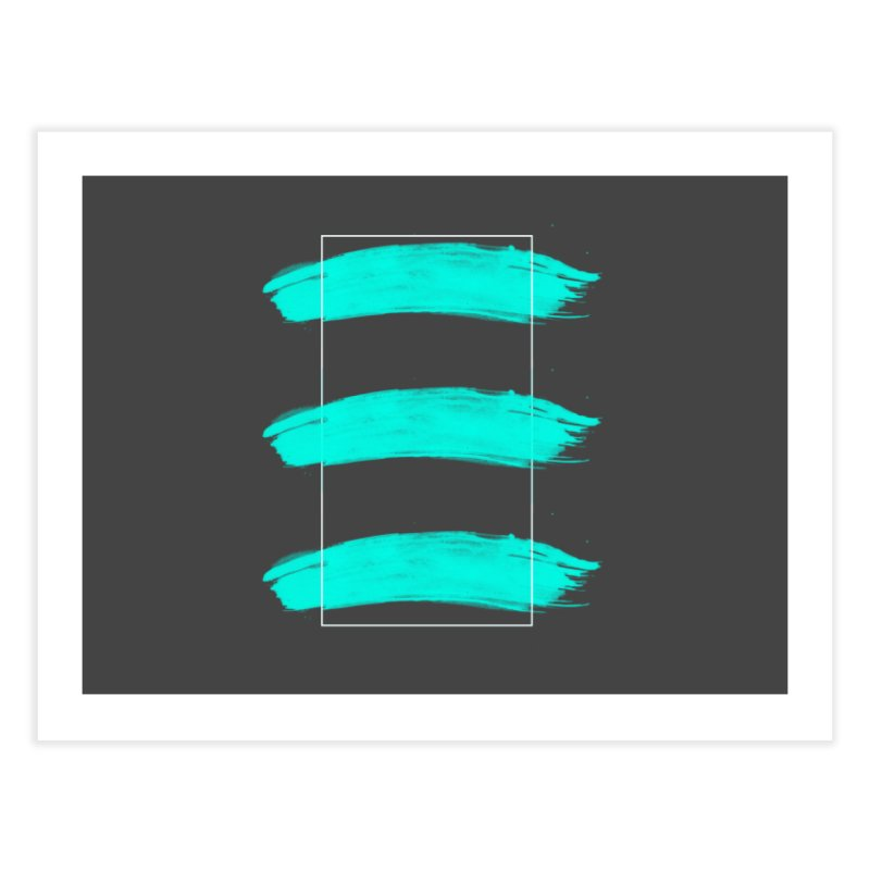 Painted Lines Home Fine Art Print by nvil's Artist Shop
