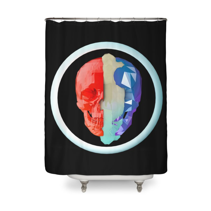 Split Home Shower Curtain by nvil's Artist Shop