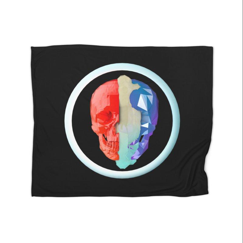 Split Home Fleece Blanket Blanket by nvil's Artist Shop