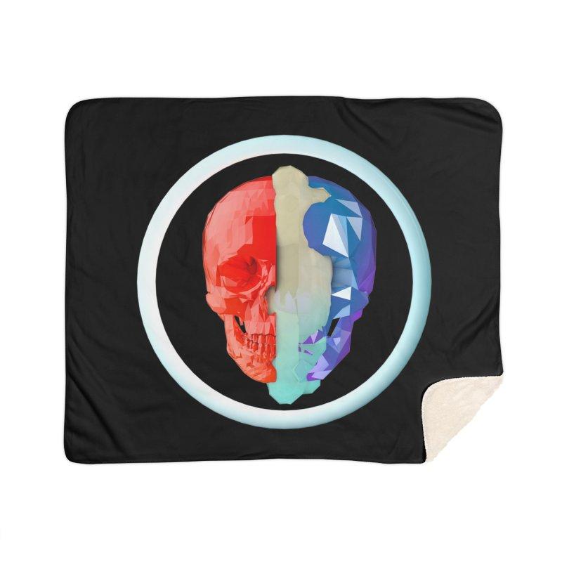 Split Home Sherpa Blanket Blanket by nvil's Artist Shop