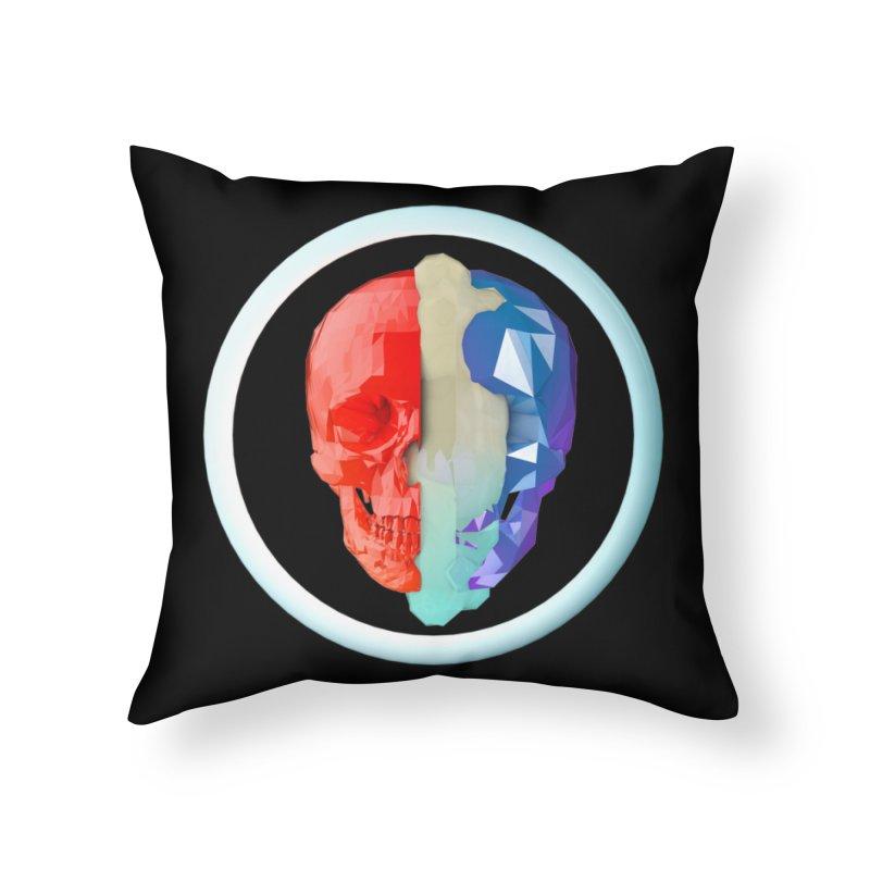 Split Home Throw Pillow by nvil's Artist Shop