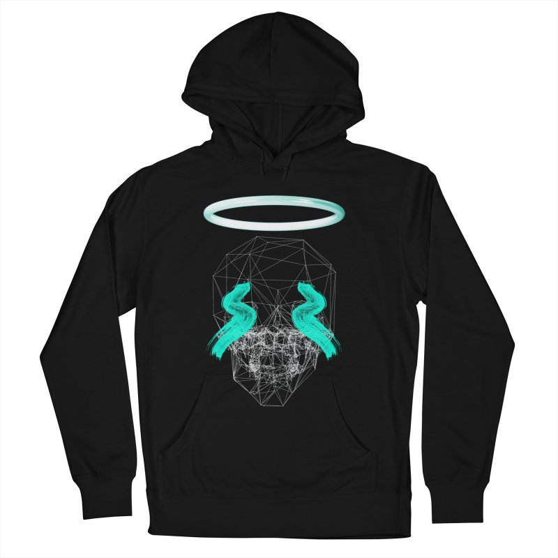 Blurry eyes saint Men's French Terry Pullover Hoody by nvil's Artist Shop