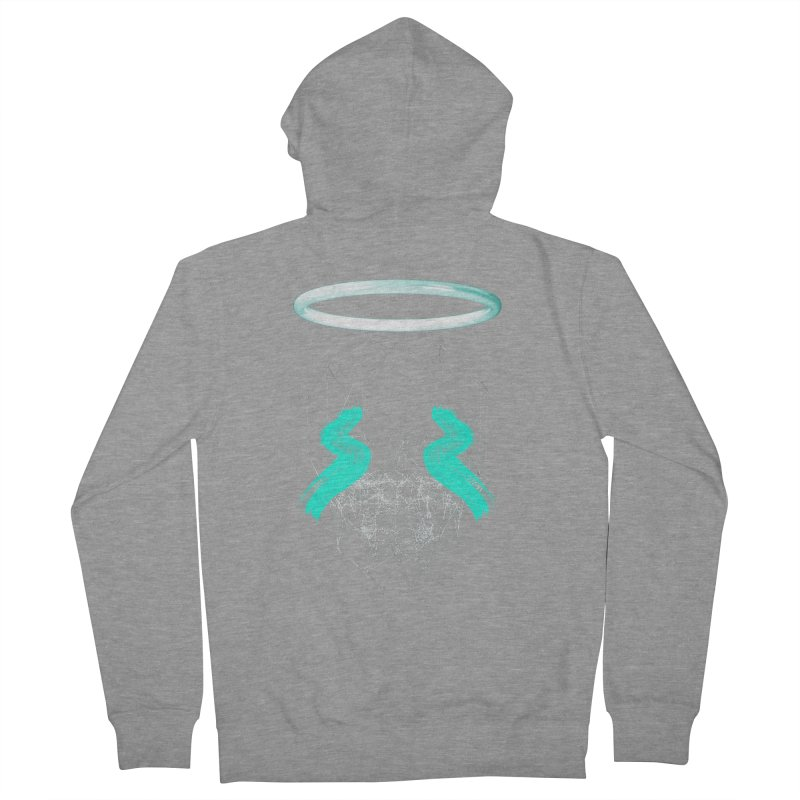 Blurry eyes saint Men's French Terry Zip-Up Hoody by nvil's Artist Shop