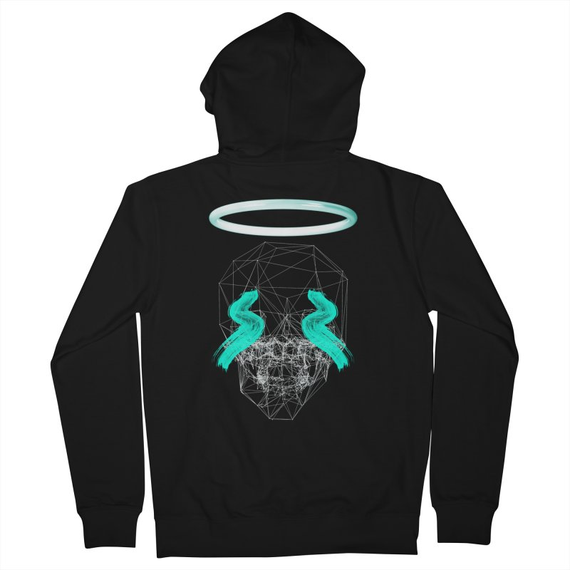 Blurry eyes saint Men's Zip-Up Hoody by nvil's Artist Shop