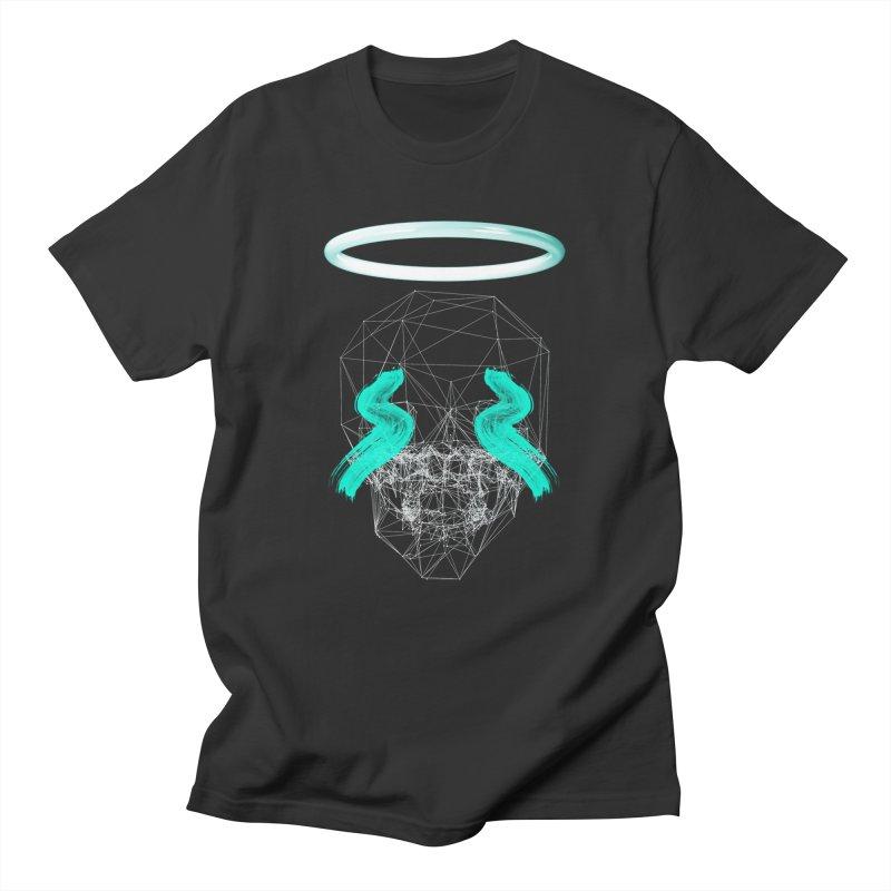 Blurry eyes saint Men's Regular T-Shirt by nvil's Artist Shop