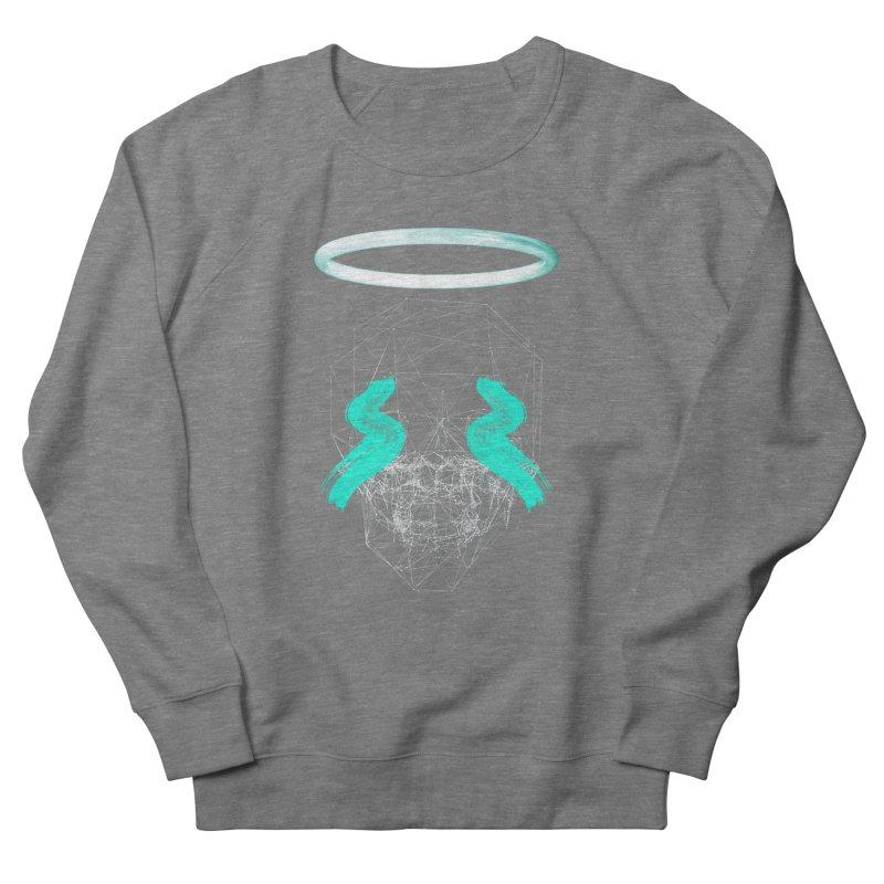 Blurry eyes saint Women's French Terry Sweatshirt by nvil's Artist Shop