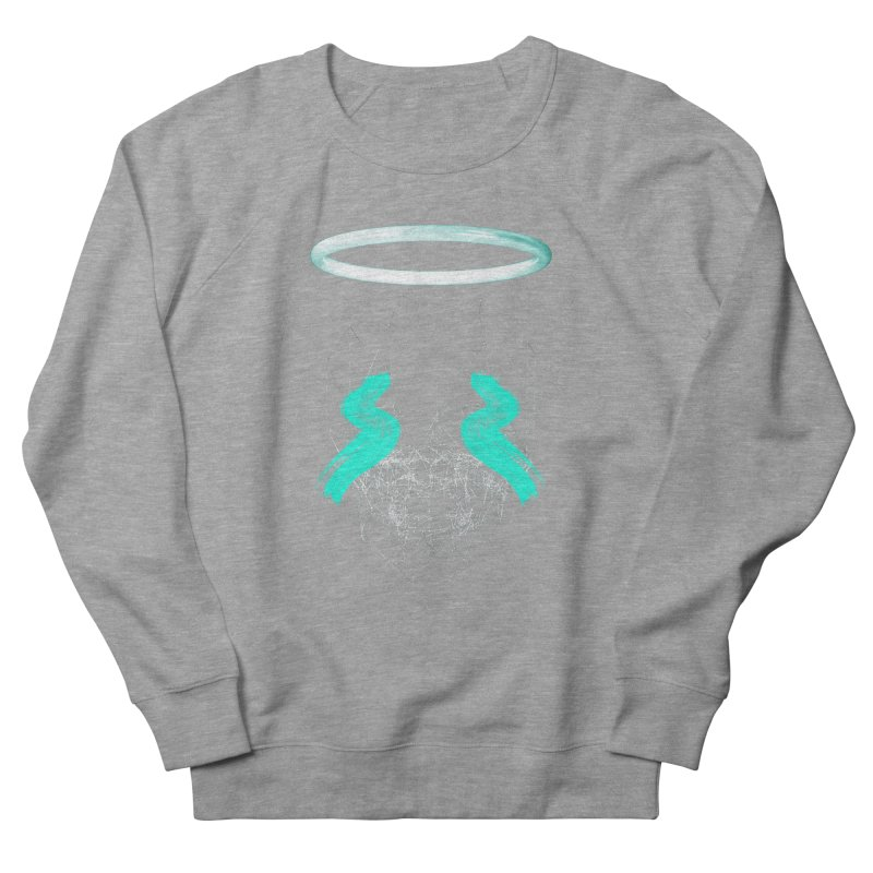 Blurry eyes saint Men's French Terry Sweatshirt by nvil's Artist Shop
