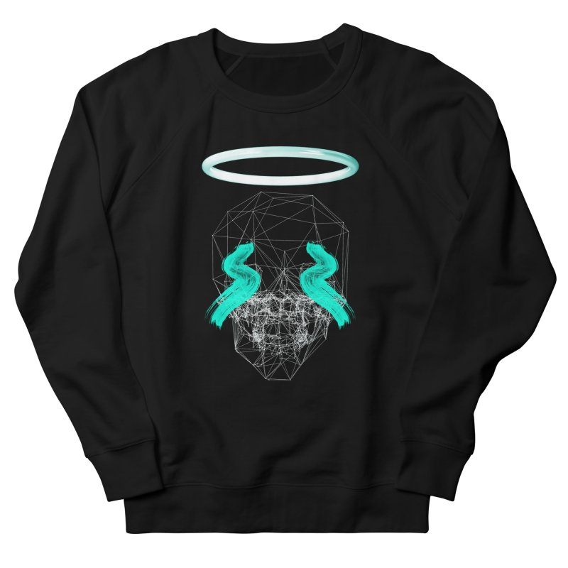 Blurry eyes saint Men's French Terry Sweatshirt by nvil's Artist Shop