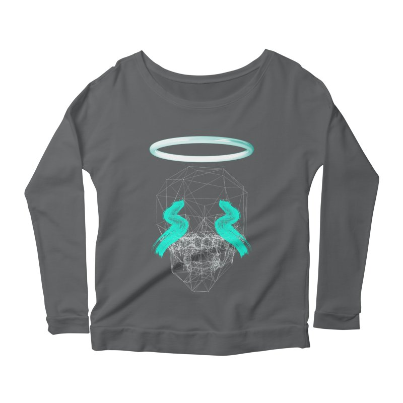 Blurry eyes saint Women's Scoop Neck Longsleeve T-Shirt by nvil's Artist Shop