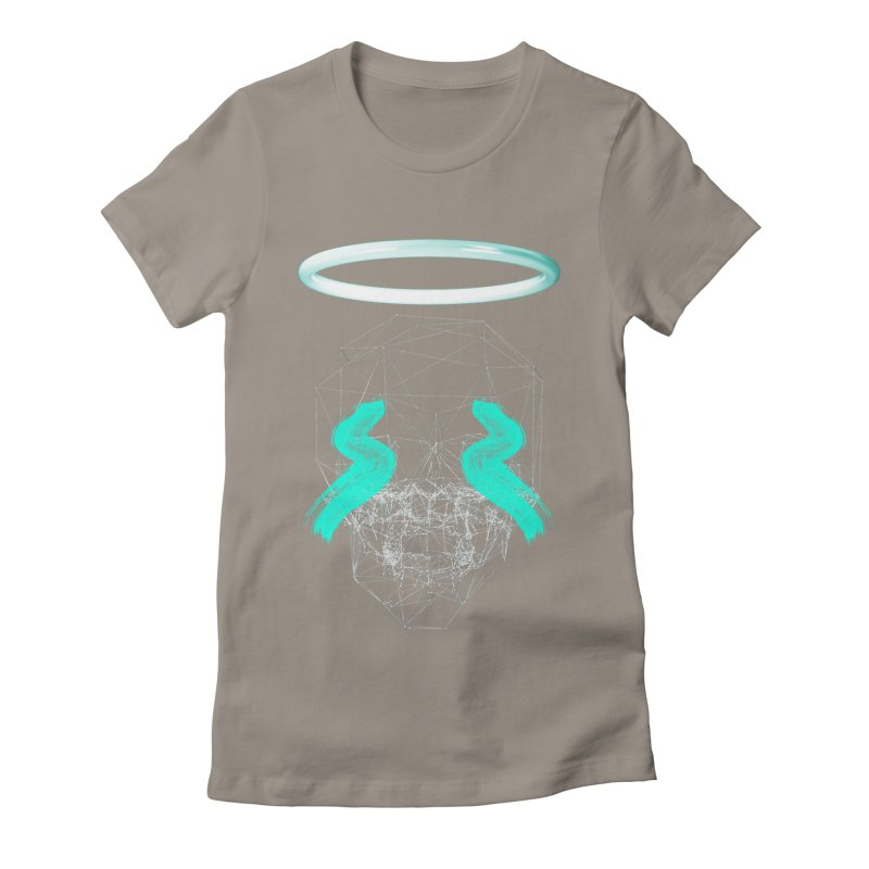 Blurry eyes saint Women's Fitted T-Shirt by nvil's Artist Shop
