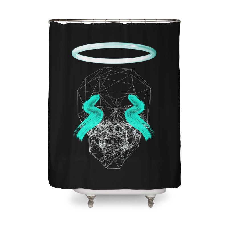 Blurry eyes saint Home Shower Curtain by nvil's Artist Shop