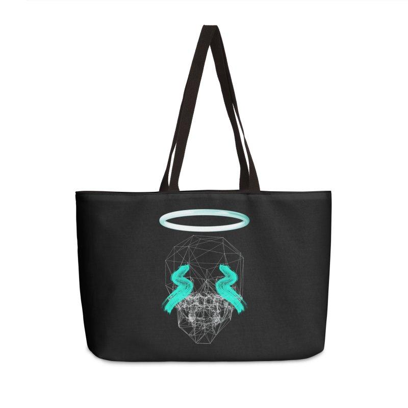 Blurry eyes saint Accessories Weekender Bag Bag by nvil's Artist Shop