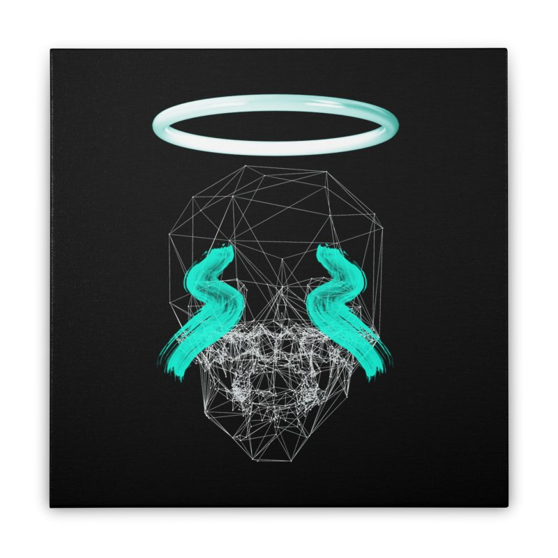 Blurry eyes saint Home Stretched Canvas by nvil's Artist Shop