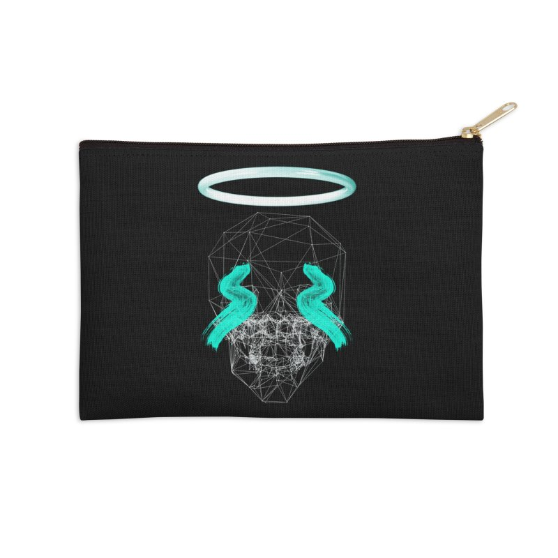 Blurry eyes saint Accessories Zip Pouch by nvil's Artist Shop