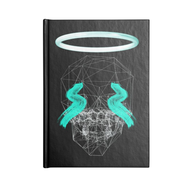 Blurry eyes saint Accessories Lined Journal Notebook by nvil's Artist Shop