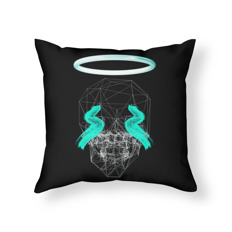 Blurry eyes saint Home Throw Pillow by nvil's Artist Shop