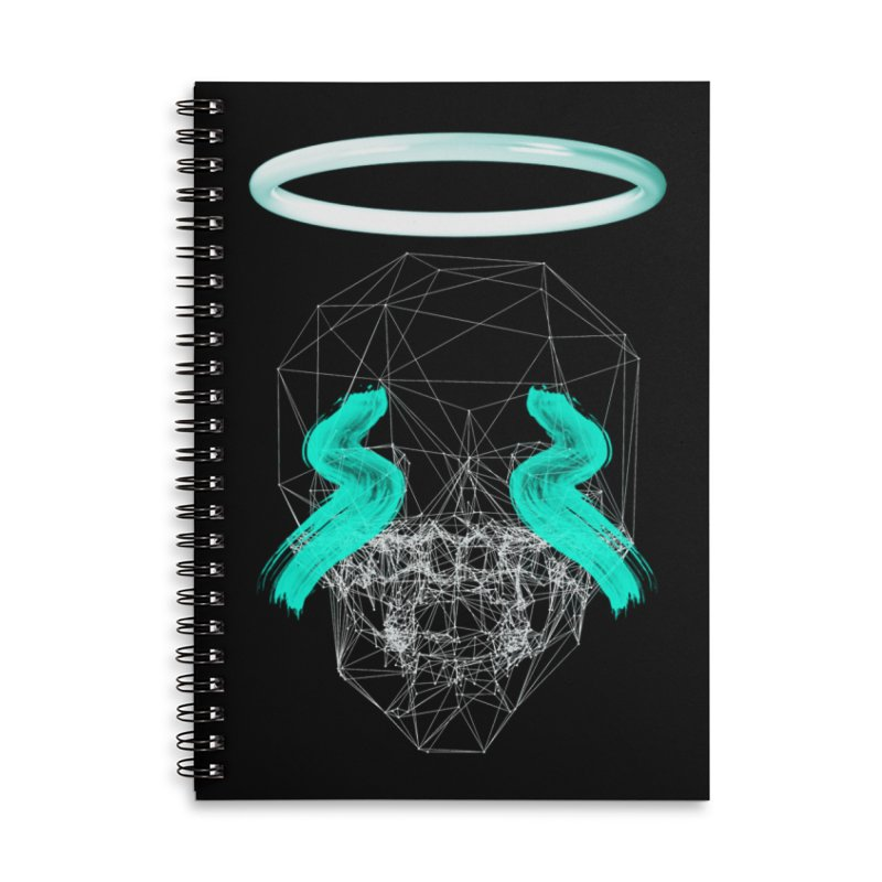Blurry eyes saint Accessories Lined Spiral Notebook by nvil's Artist Shop