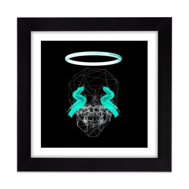 Blurry eyes saint Home Framed Fine Art Print by nvil's Artist Shop