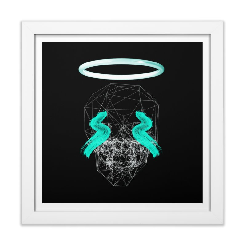 Blurry eyes saint Home Framed Fine Art Print by nvil's Artist Shop