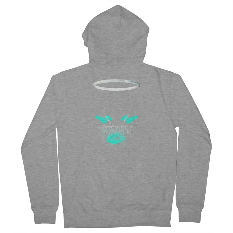 Deadly Lips Women's French Terry Zip-Up Hoody by nvil's Artist Shop