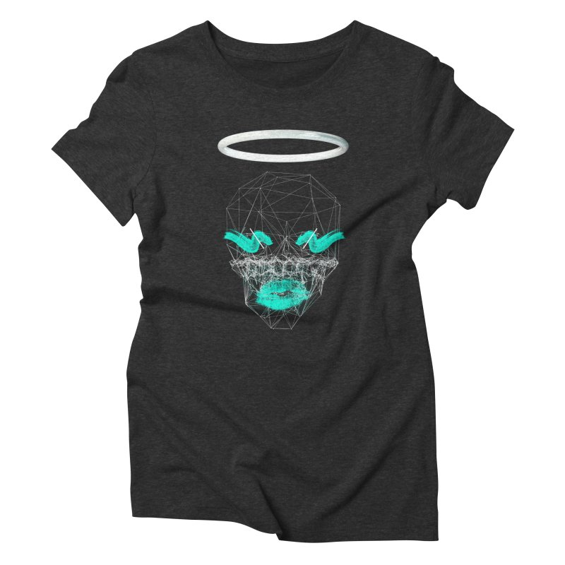 Deadly Lips Women's Triblend T-Shirt by nvil's Artist Shop