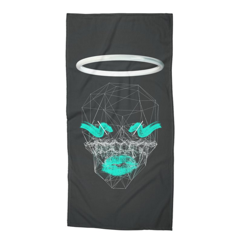 Deadly Lips Accessories Beach Towel by nvil's Artist Shop
