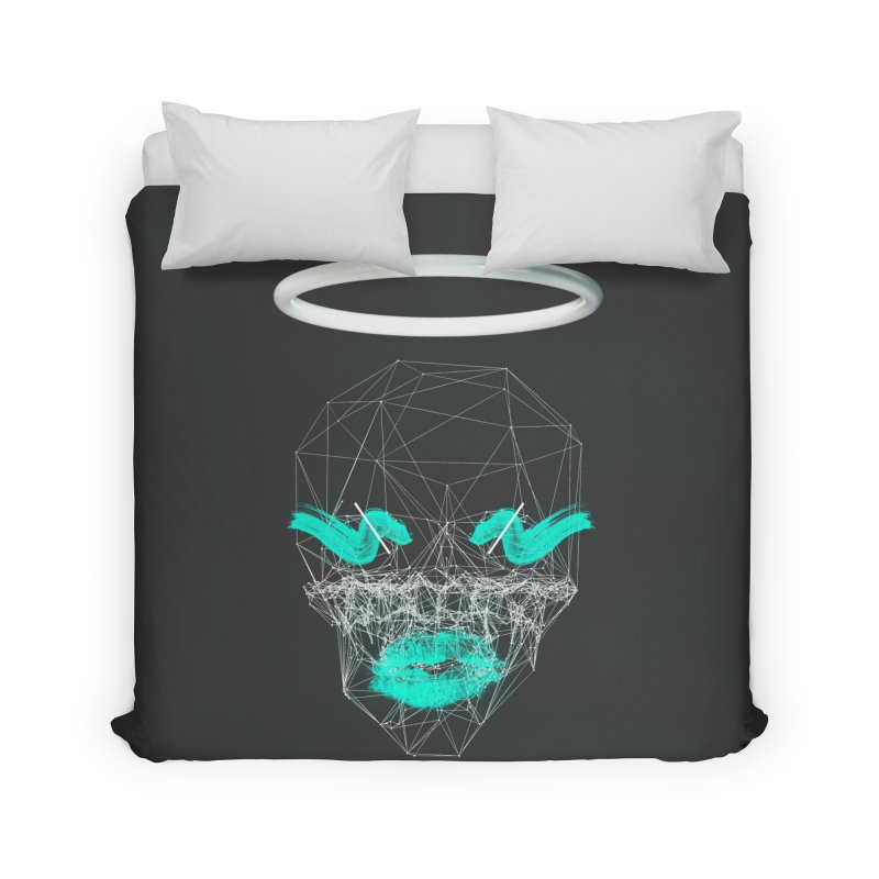 Deadly Lips Home Duvet by nvil's Artist Shop