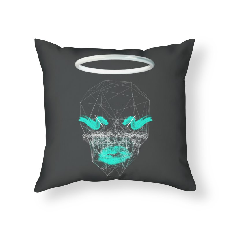 Deadly Lips Home Throw Pillow by nvil's Artist Shop