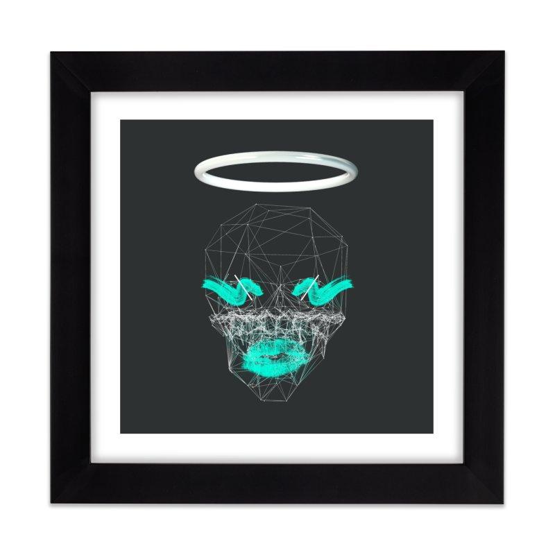 Deadly Lips Home Framed Fine Art Print by nvil's Artist Shop