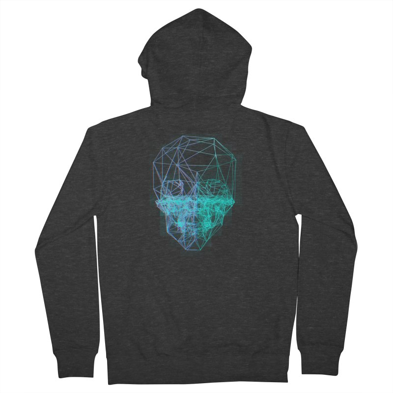 Death in 3D Men's French Terry Zip-Up Hoody by nvil's Artist Shop