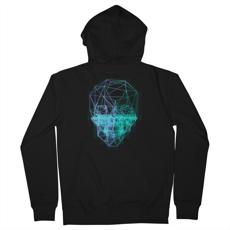 Death in 3D Men's Zip-Up Hoody by nvil's Artist Shop