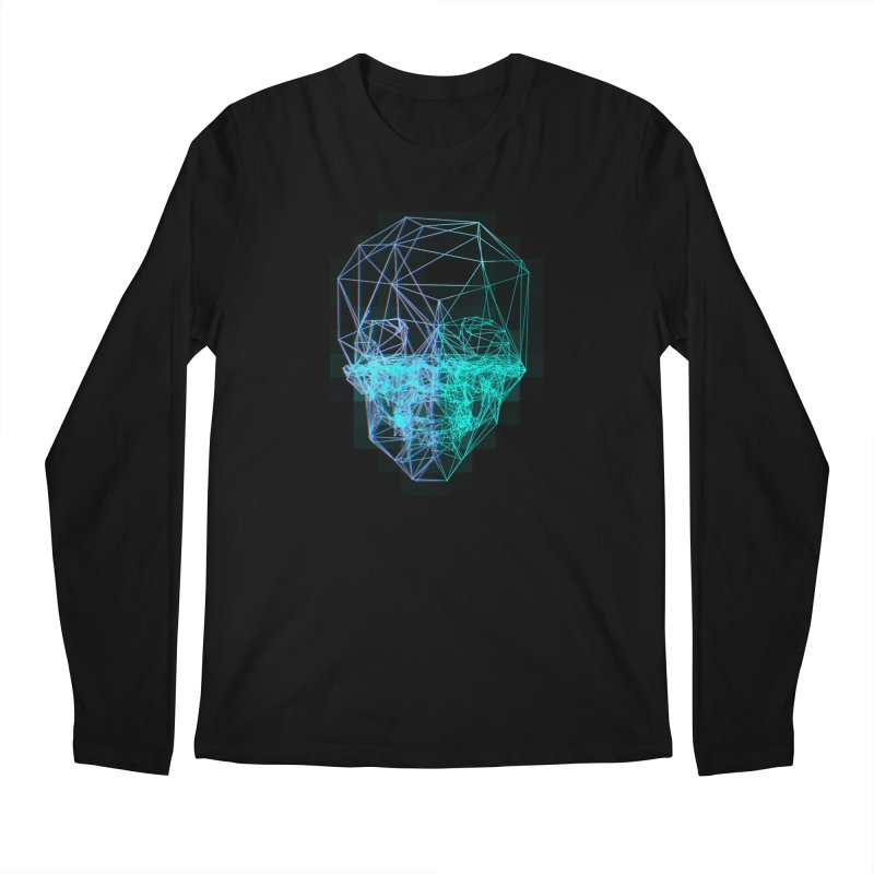 Death in 3D Men's Regular Longsleeve T-Shirt by nvil's Artist Shop