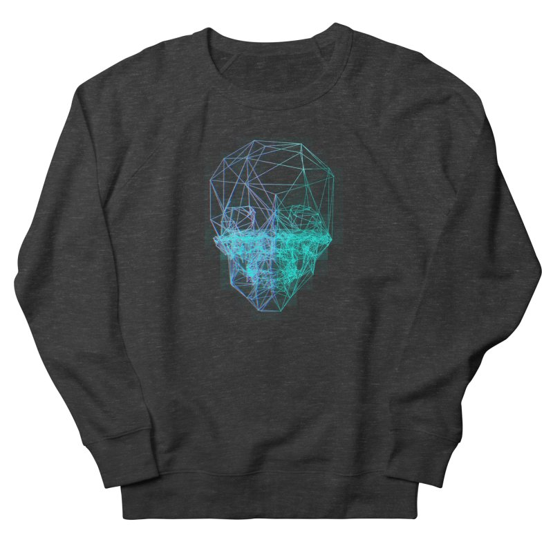 Death in 3D Men's French Terry Sweatshirt by nvil's Artist Shop