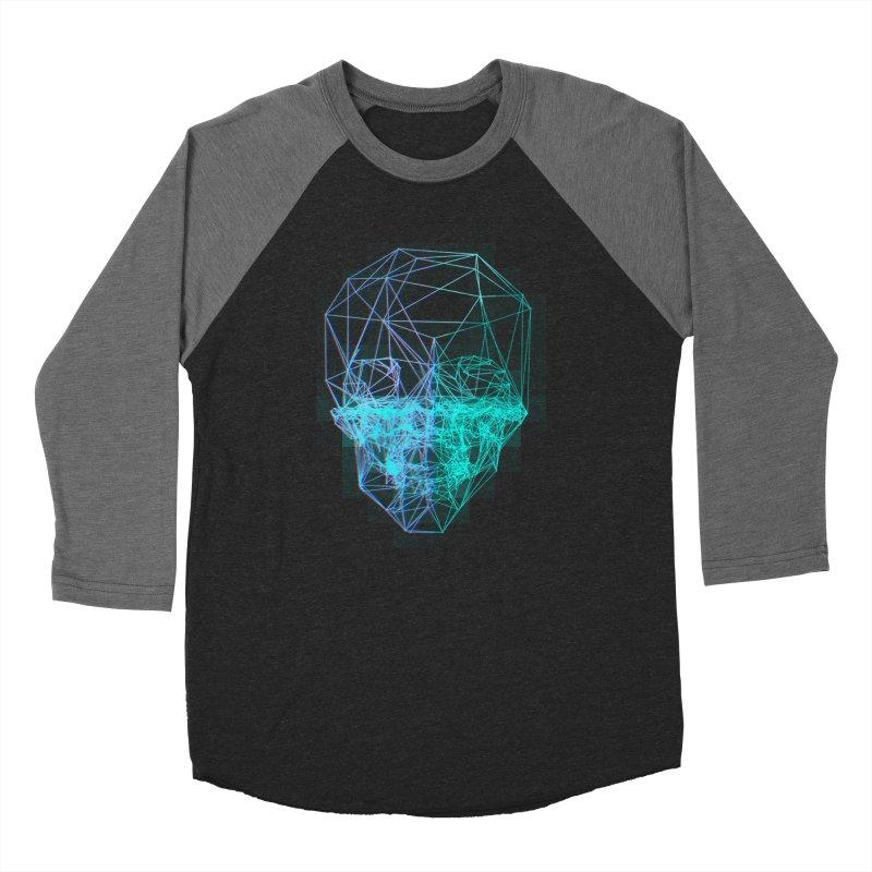 Death in 3D Women's Baseball Triblend Longsleeve T-Shirt by nvil's Artist Shop