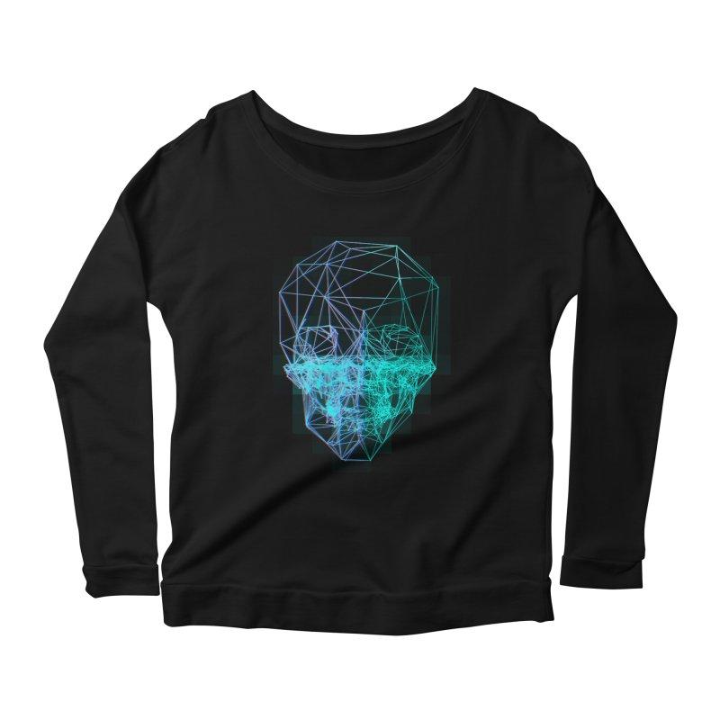 Death in 3D Women's Scoop Neck Longsleeve T-Shirt by nvil's Artist Shop