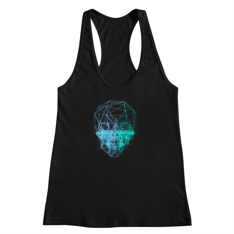 Death in 3D Women's Racerback Tank by nvil's Artist Shop
