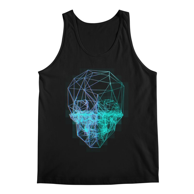 Death in 3D Men's Regular Tank by nvil's Artist Shop