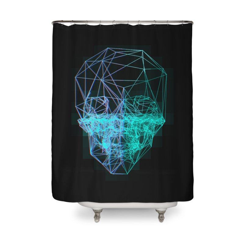 Death in 3D Home Shower Curtain by nvil's Artist Shop
