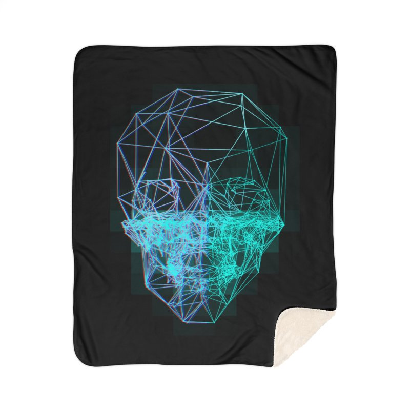 Death in 3D Home Sherpa Blanket Blanket by nvil's Artist Shop