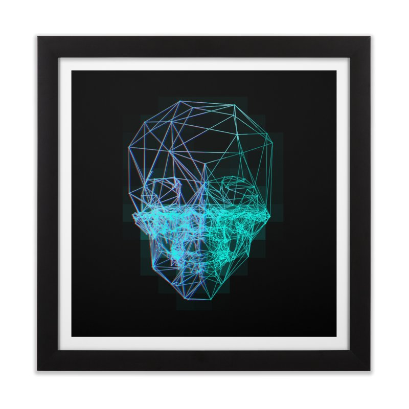 Death in 3D Home Framed Fine Art Print by nvil's Artist Shop