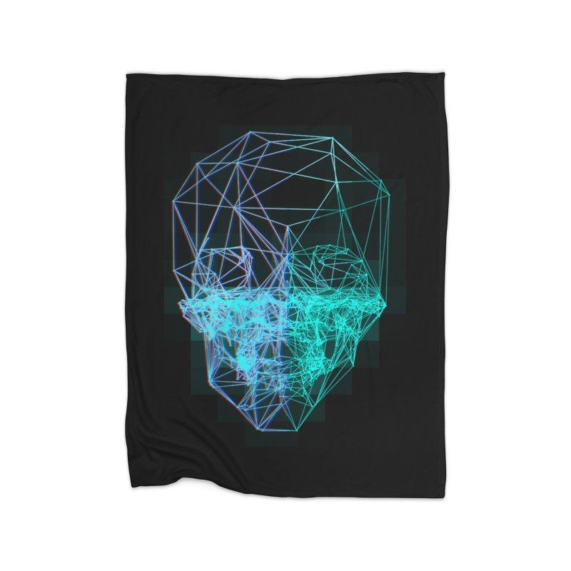 Death in 3D Home Fleece Blanket Blanket by nvil's Artist Shop