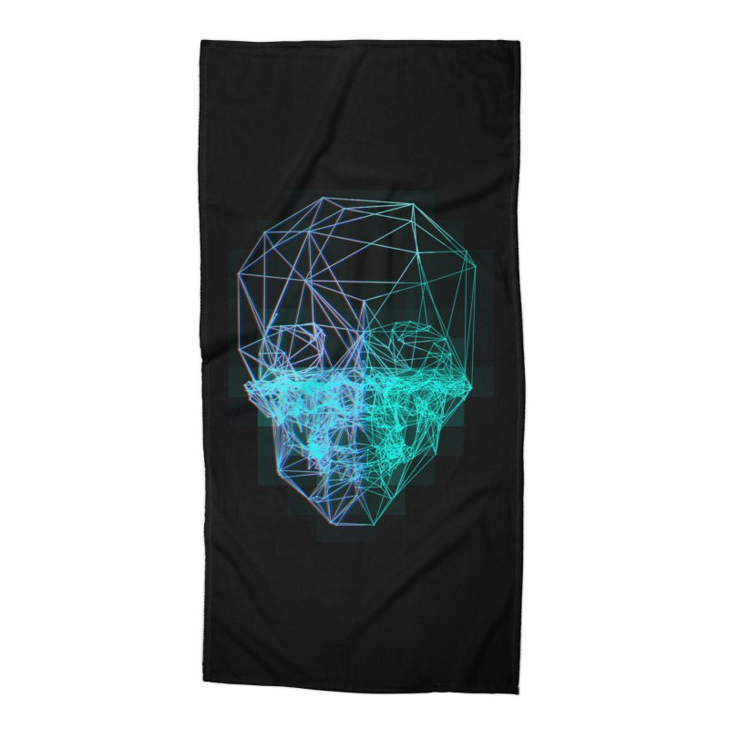 Death in 3D Accessories Beach Towel by nvil's Artist Shop