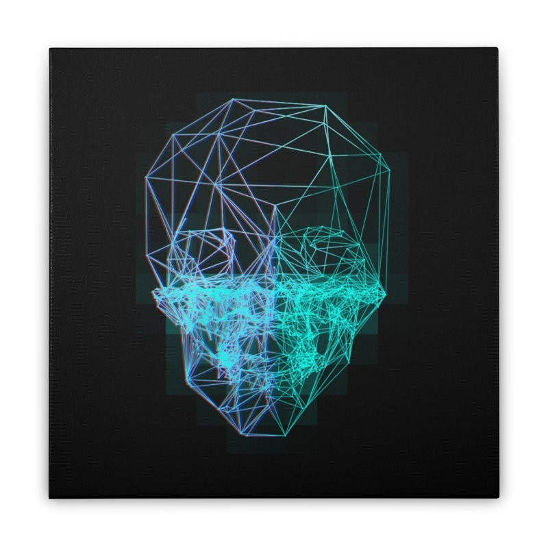 Death in 3D Home Stretched Canvas by nvil's Artist Shop