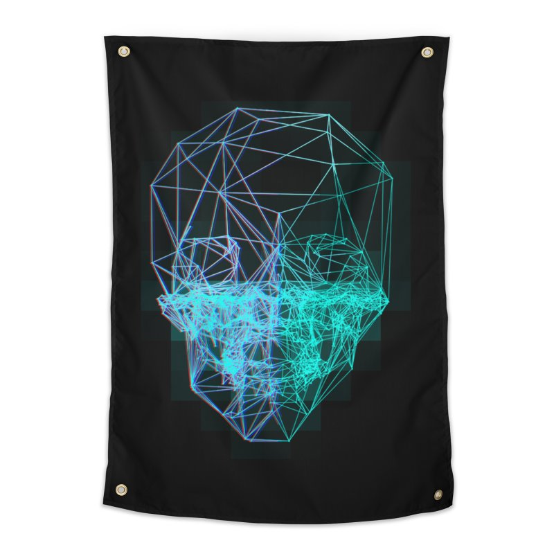 Death in 3D Home Tapestry by nvil's Artist Shop