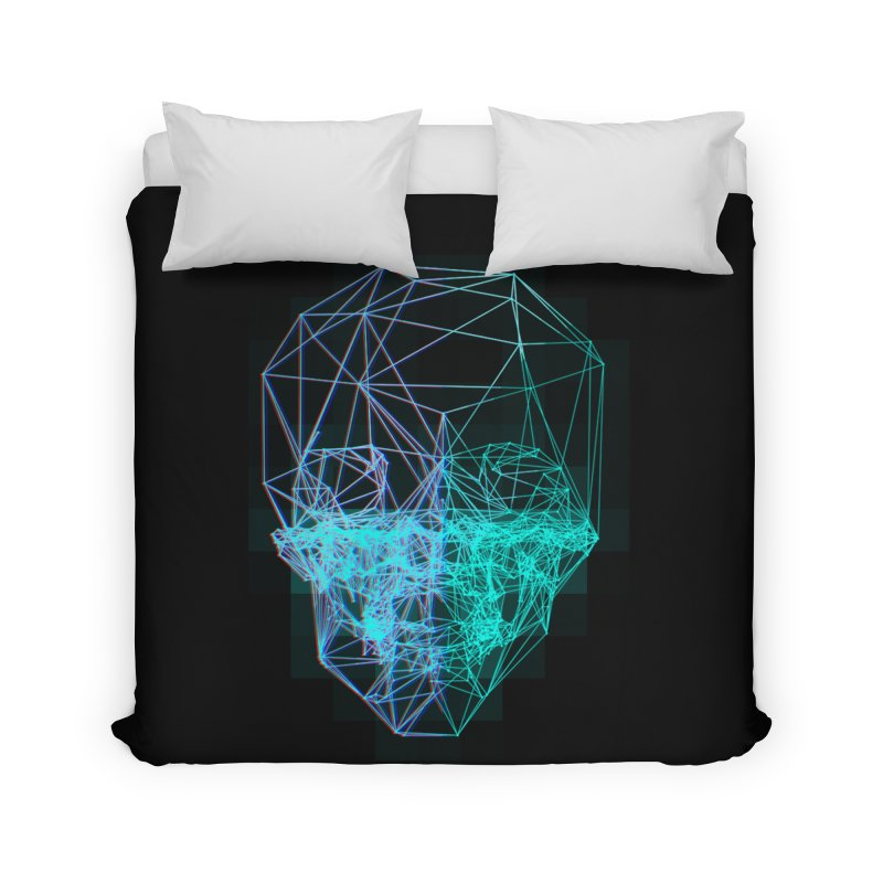 Death in 3D Home Duvet by nvil's Artist Shop